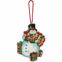 Snowman Ornament Cross Stitch Kit