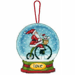 Love Snow Globe Cross Stitch Ornament Kit