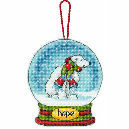 Hope Snow Globe Cross Stitch Ornament Kit