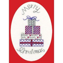 Posh Presents Cross Stitch Christmas Card Kit