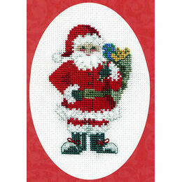 Santa's Sack Christmas Cross Stitch Card Kit