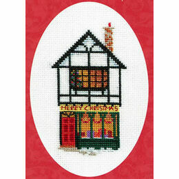 Christmas Shop Cross Stitch Card Kit