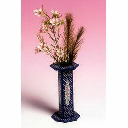 Rosebud Vase 3D Cross Stitch Kit