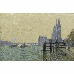 Monet - The Thames Below Westminster Cross Stitch Kit
