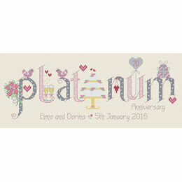 Platinum 70th Anniversary Cross Stitch Kit