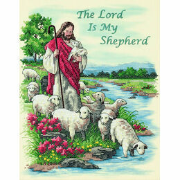 The Lord Is My Shepherd Stamped Cross Stitch Kit