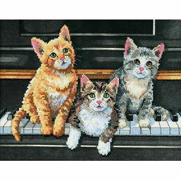 Meowsical Trio Cross Stitch Kit