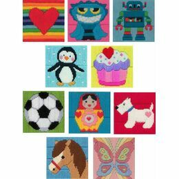 Anchor 1st Pack Of 10 Mixed Long Stitch Kits For Kids