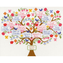 My Family Tree Cross Stitch Kit