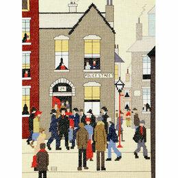 Lowry - The Arrest Cross Stitch Kit