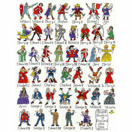British Historical Kings & Queens Sampler Cross Stitch Kit