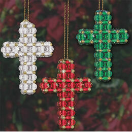 Christmas Beaded Crosses Kit (set of 9)