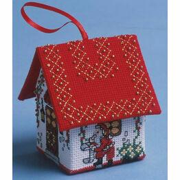 Checking the List Santa House 3D Cross Stitch Kit