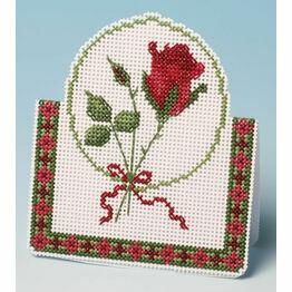 Red Rose Card 3D Cross Stitch Kit