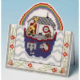 Noah's Ark Card 3D Cross Stitch Kit