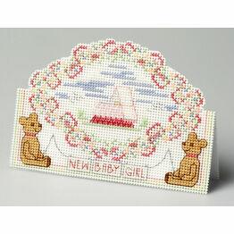 Baby Girl Card 3D Cross Stitch Kit