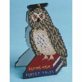 Stand-Up Owl Card 3D Cross Stitch Kit