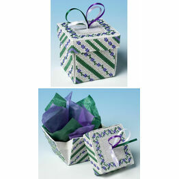 Wood Violet Exploding Box 3D Cross Stitch Kit