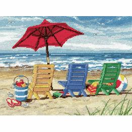 Beach Chair Trio Needlepoint Kit
