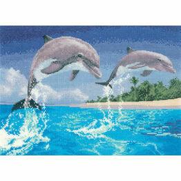 Dolphins Cross Stitch Kit
