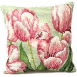 Tulip Right Cushion Panel Cross Stitch Kit