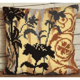 Silhouette On Left Cushion Panel Cross Stitch Kit