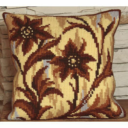 Silhouette In Middle Cushion Panel Cross Stitch Kit