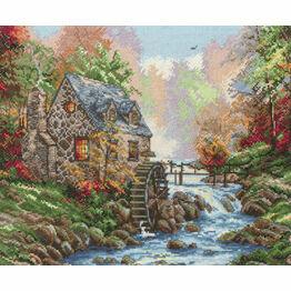 Cobblestone Mill Cross Stitch Kit