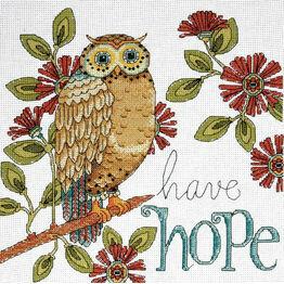 Have Hope Owl Cross Stitch Kit