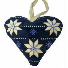 Scandinavian Lavender Heart Tapestry Kit