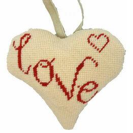 Love Lavender Heart Tapestry Kit
