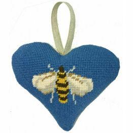 Bee Lavender Heart Tapestry Kit
