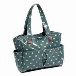 Blue Spot Vinyl Crafters Bag