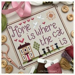 Home Is Where The Cat Is Cross Stitch Kit