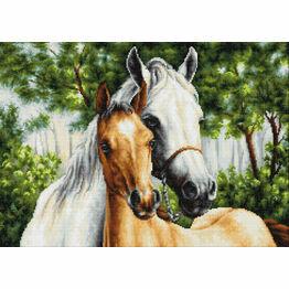 Horse Mother & Child Cross Stitch Kit