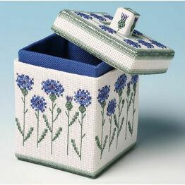 Cornflower Box 3D Cross Stitch Kit