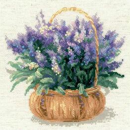 French Lavender Cross Stitch Kit