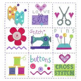 Sewing Sampler Cross Stitch Kit