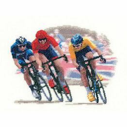 Cycle Race Cross Stitch Kit