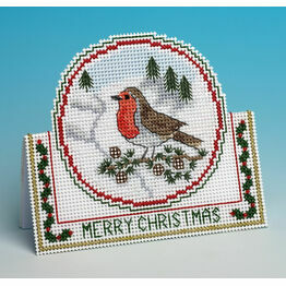 Christmas Robin Card 3D Cross Stitch Kit