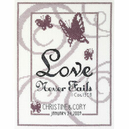 Love Never Fails Cross Stitch Kit