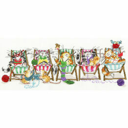 Kitty Knit Cross Stitch Kit