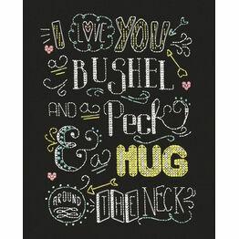 Hug Chalkboard Cross Stitch Kit