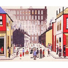 Lowry - Street Scene Cross Stitch Kit