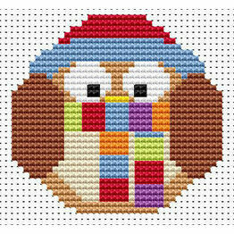 Sew Simple Winter Owl Beginners Cross Stitch Kit