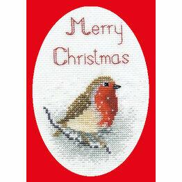 Snow Robin Christmas Card Cross Stitch Kit