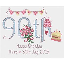 90th Birthday Cross Stitch Kit