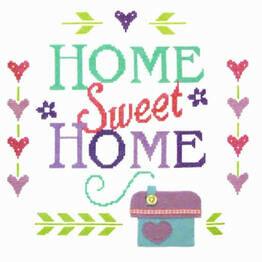 Home Sampler Cross Stitch Felty Kit