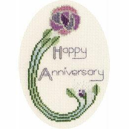 Mackintosh Rose Anniversary Cross Stitch Card Kit