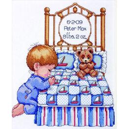 Baby Boy Prayer Cross Stitch Kit